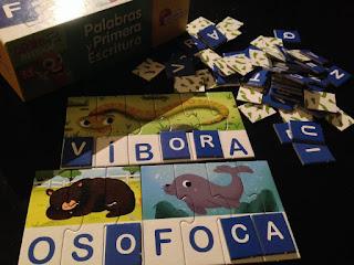 Foto del puzle Palabras y primera escritura con las letras del bingo