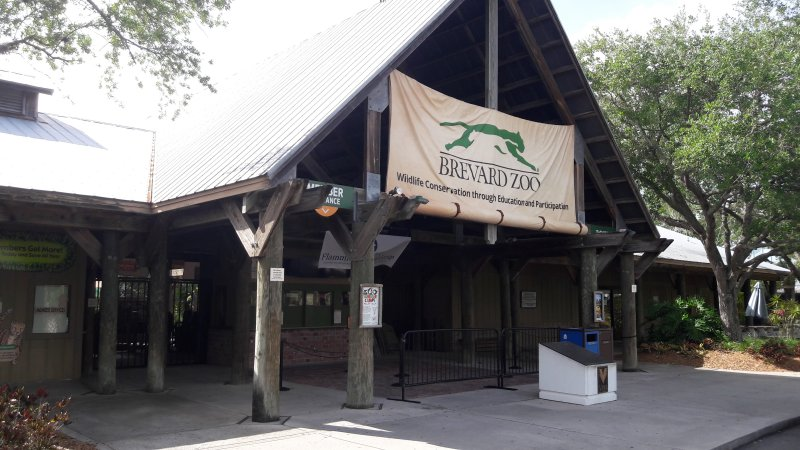 Entrance To The Brevard Zoo
