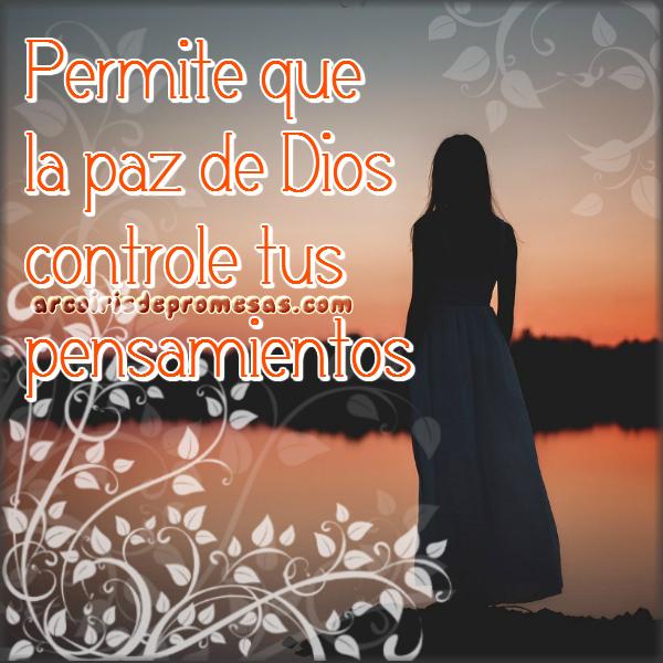 la paz de dios en tus pensamientos reflexiones cristianas con imágenes arcoiris de promesas