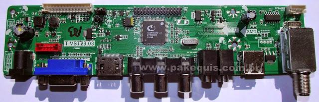 Placa universal de TV para LCD T.VST29.03 TSUMV59XU