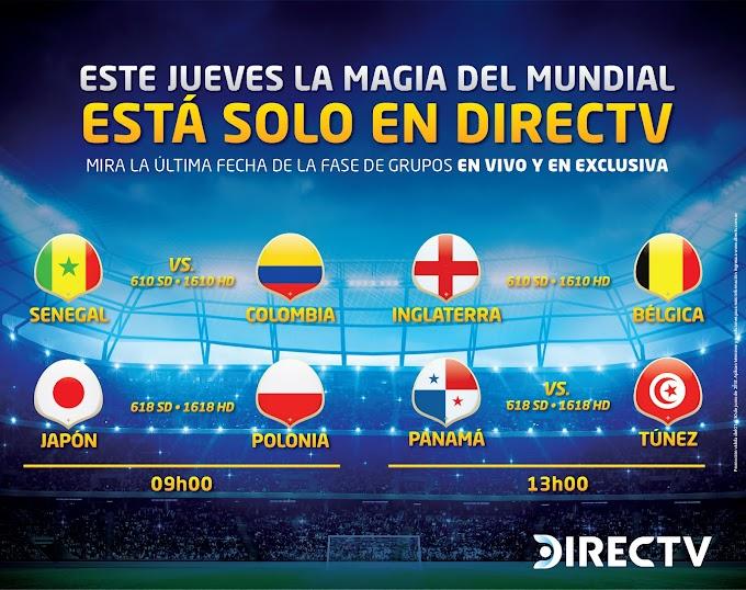 El partido decisivo para Colombia, en la Copa Mundial Rusia 2018,  se vivirá en exclusiva por Directv
