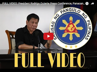 Replay Video President Duterte Press Conference