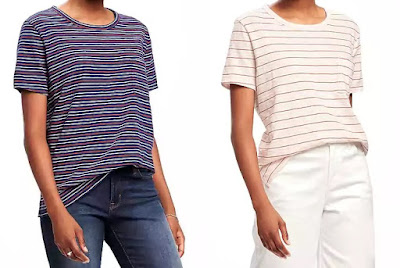 Old Navy Slub-Knit Cropped Boyfriend Tee $5 (reg $17)