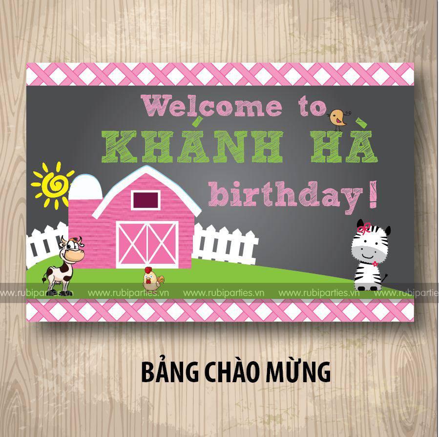 Bang chao mung sinh nhat theo chu de Bo Sua