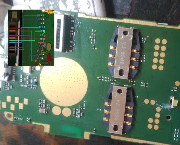 How to repair Nokia 130 lcd display tracks