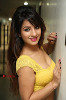 Cute Telugu Actress Shunaya Solanki High Definition Spicy Pos in Yellow Top and Skirt  0082.JPG