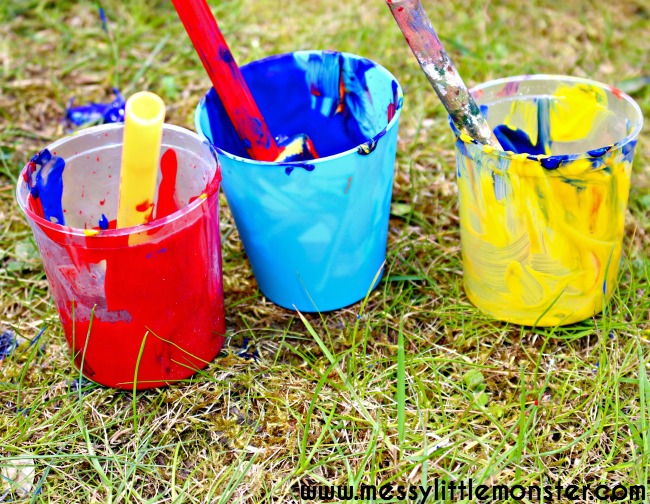 Outdoor art activity for kids