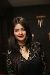 Actress Monica in spicy transparent Black Top at O Pilla Nee Valla Movie Audio Launch Feb 2017 010.JPG