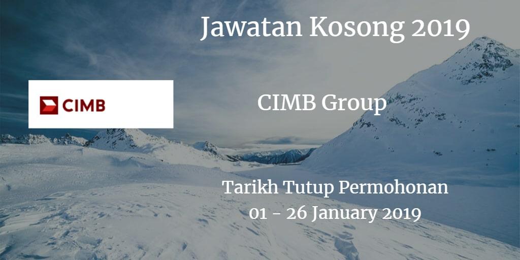 Jawatan Kosong CIMB Group 01 - 26 January 2019