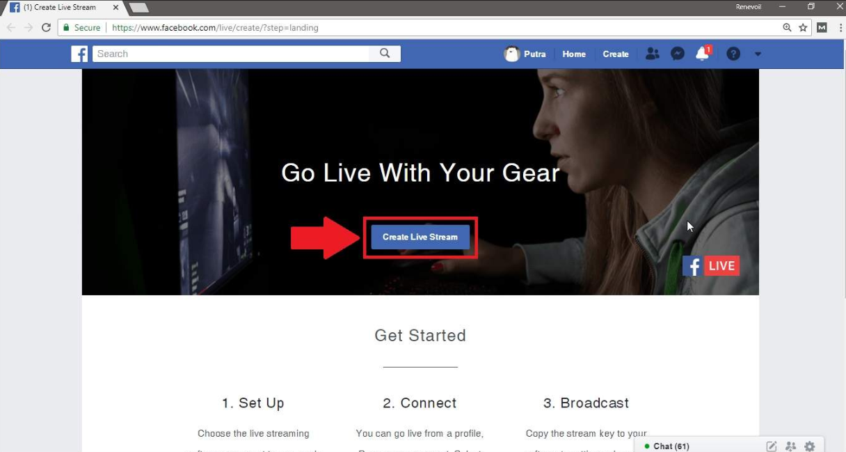 cara live streaming game online di facebook