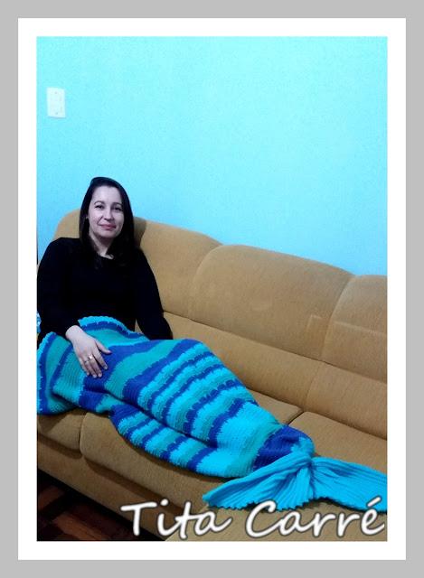 Cobertor de Sereia em crochet