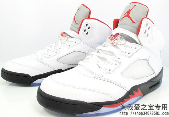 online retailer d52db 85cab Air Jordan 5 Retro White Black-Fire Red Returning In 2013