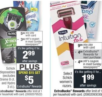 FREE Schick Men's & Women's Razor at CVS - 5/12-5/18