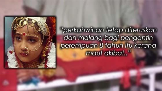 Dipaksa Kahwin Dengan Lelaki 40 Tahun, Budak Perempuan 8 Tahun Maut di Malam Pertama