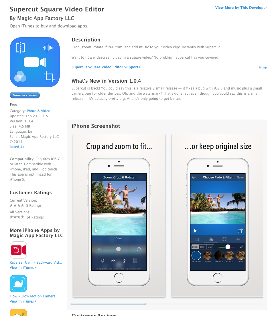 UCET Free iOS App Today: Supercut Square Video Editor - UCET