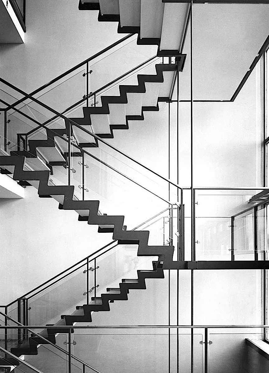 1955 modern stairs, a photograph