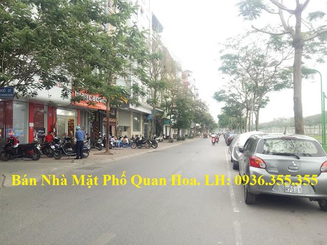 Bán nhà mặt phố Quan Hoa