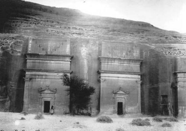 مقابر تعود لعام 27 ق.م في مدائن صالح 1907م