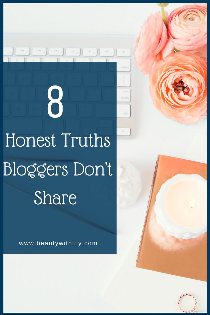 Things Bloggers Never Share // The Ugly Side Of Blogging | beautywithlily.com