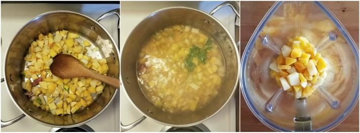 Pasos para preparar la crema de apio criollo venezolana