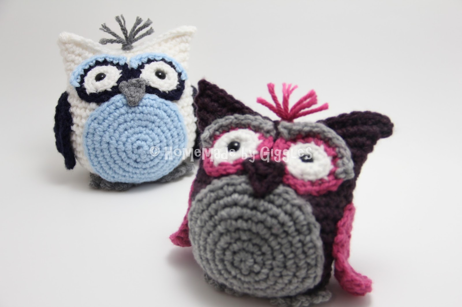 Crochet Beach Bag Pattern : Homemade by Giggles: Bean Bag Owl - FREE Crochet Pattern!