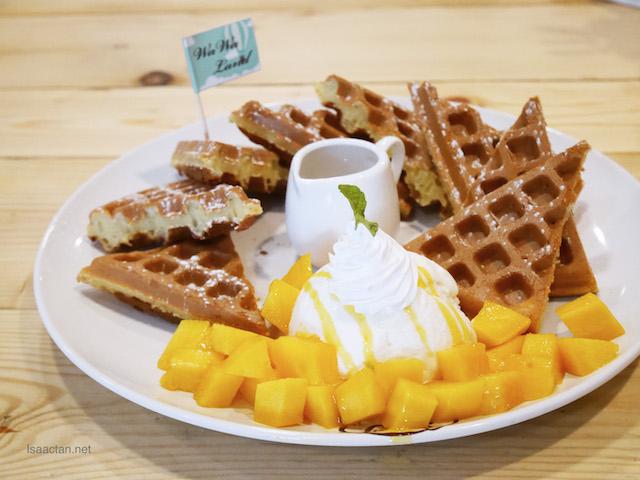 Fresh Mango Condensed Milk Waffle - A La Carte RM18.80 | Classic RM23.80 | Premier RM30.80