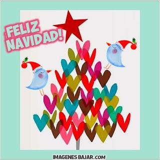 Imágenes de Feliz Navidad para desear Felices Fiestas Bonita tarjeta con árbol navideño para enviar a grupos de Whatsapp