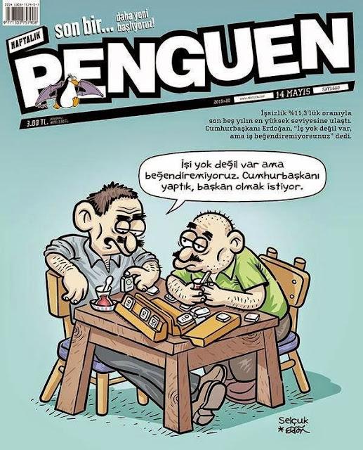 işsizlik penguen karikatür