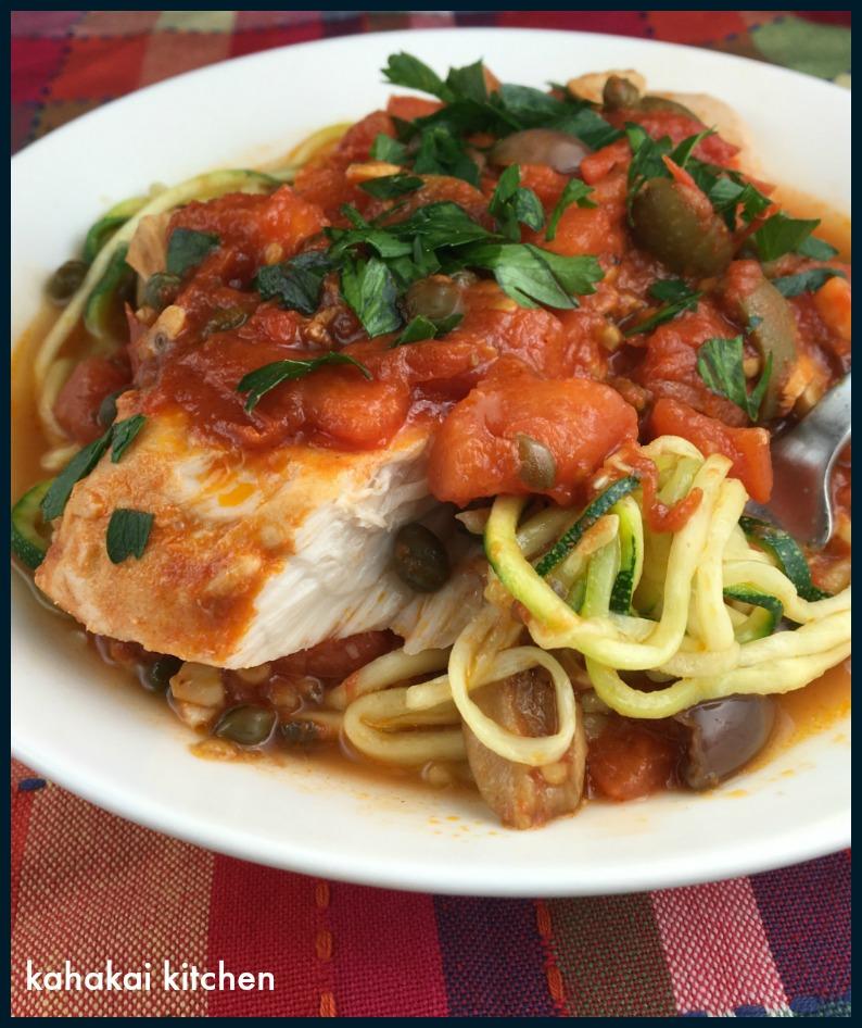 Kahakai kitchen braised opah puttanesca for Opah fish recipes