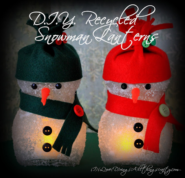 DIY Recycled Snowman Lanterns | Christmas Decorations