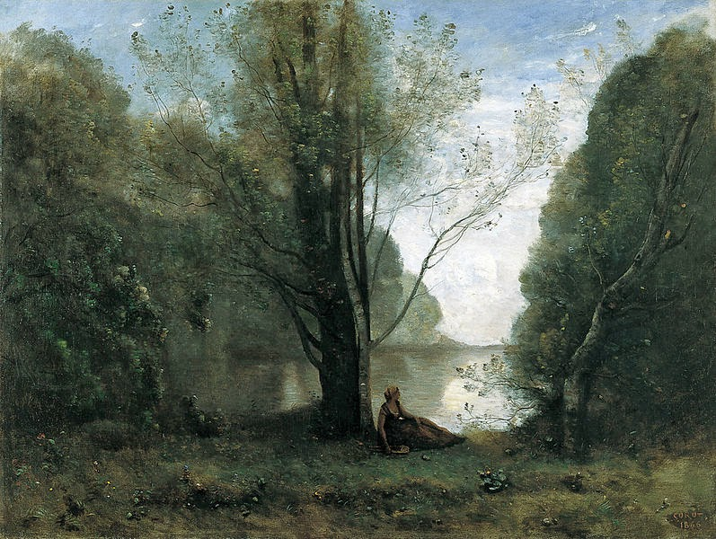 http://commons.wikimedia.org/wiki/File:Jean-Baptiste-Camille_Corot_-_The_Solitude._Recollection_of_Vigen,_Limousin_-_Google_Art_Project.jpg