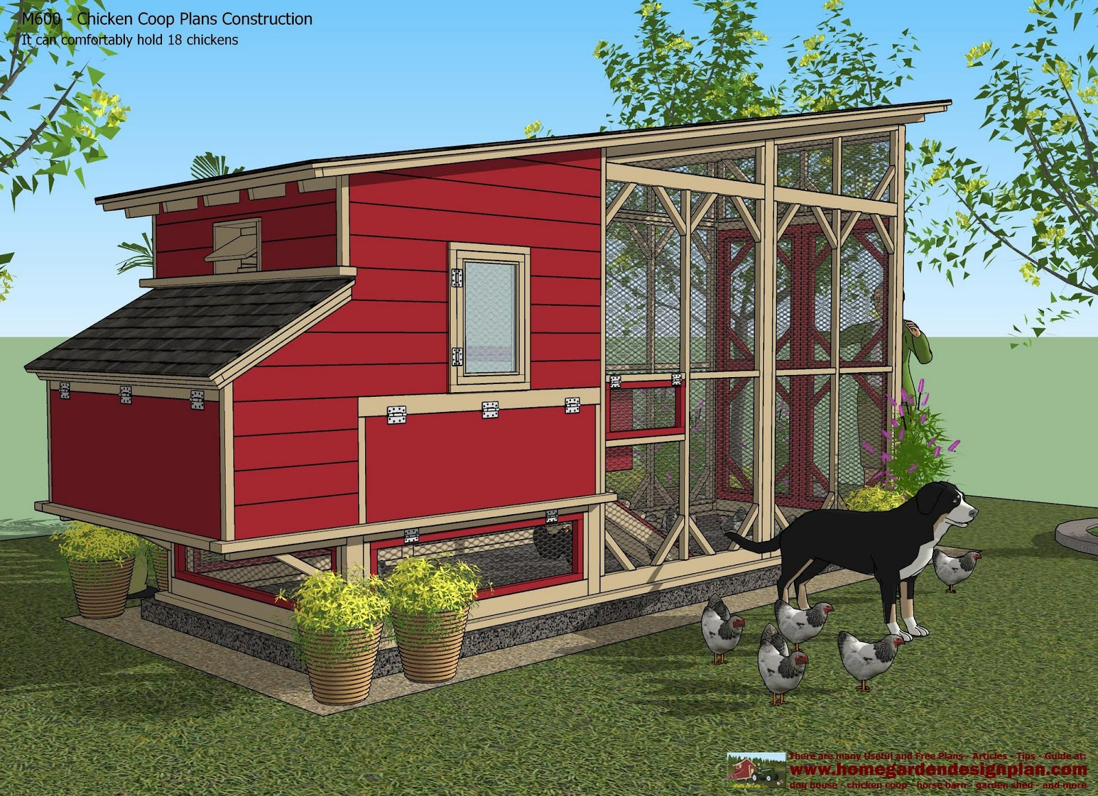 Chcken Coop: M600 Chicken Coop Plans Construction Chicken ...
