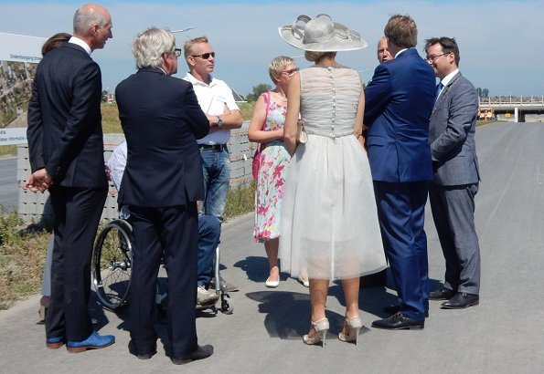 King Willem-Alexander of The Netherlands and Queen Máxima of The Netherlands visited West Friesland region. Natan dress