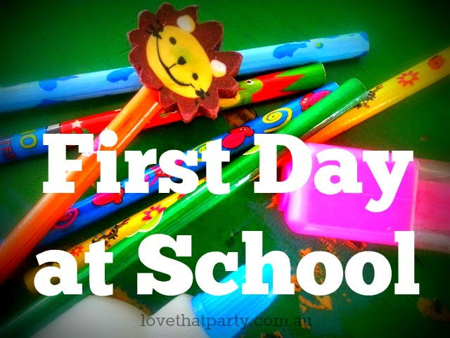 image of kids prep school supplies pencils glue highlighter for first day at school