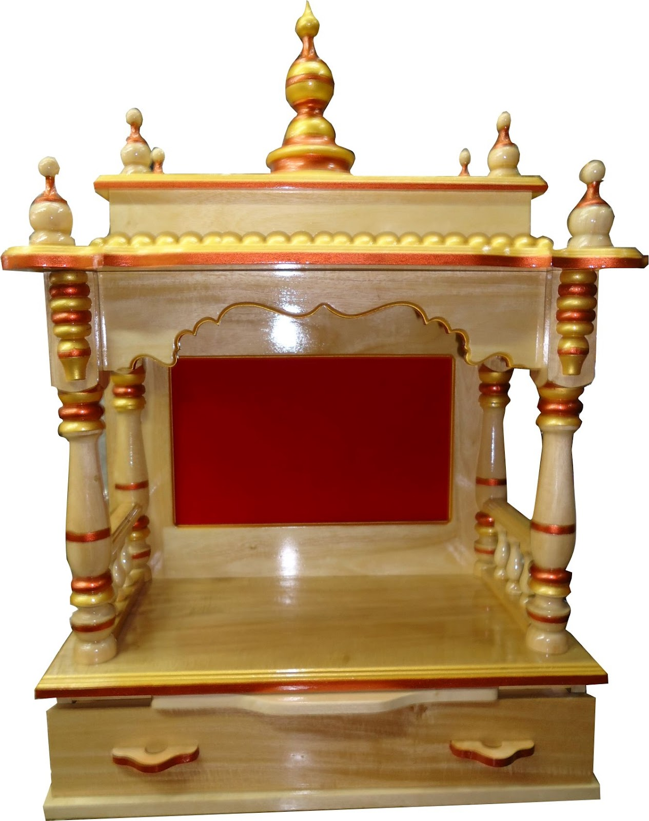 Folding Wooden Temple Wooden Mandir Wooden Mandapam For Home 1000
