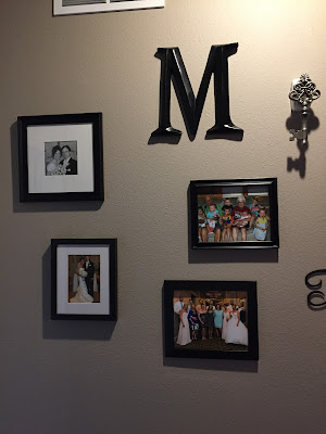 #millsnewhouse, picture wall, picture collage, family pictures
