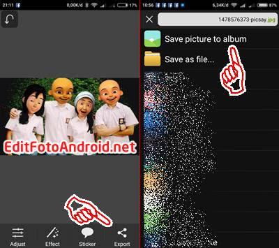 Edit Foto Kepala Upin Ipin di Picsart Android