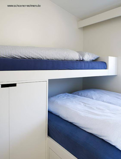 Casa cabaña nórdica contemporánea dormitorio