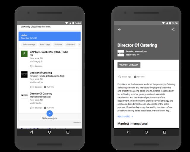 Пример поиска работы в Google