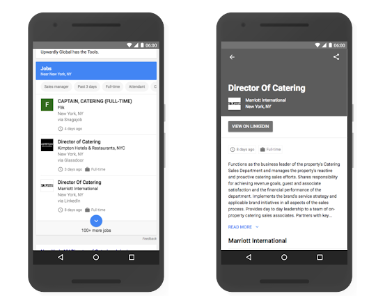 Connect to job seekers with Google Search