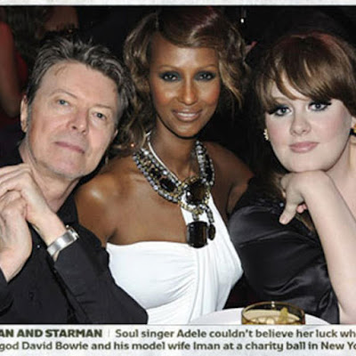 David Bowie Adele Iman Charity Ball new York