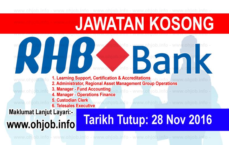 Jawatan Kerja Kosong RHB Banking Group logo www.ohjob.info november 2016