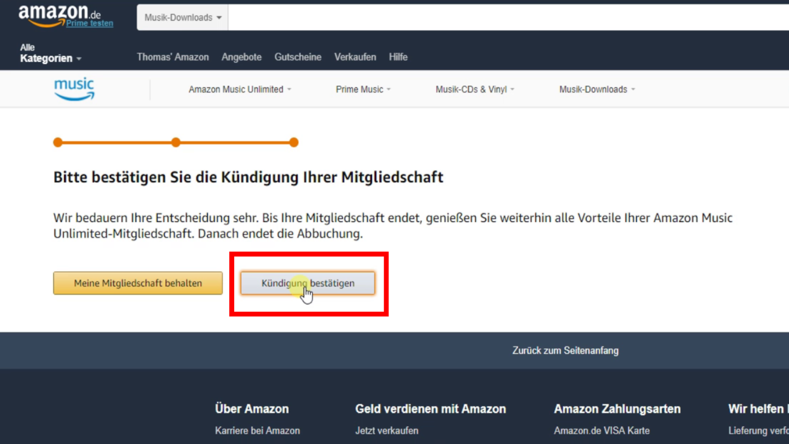Amazon Music Konto Kündigen