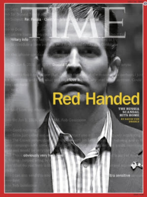 "Triple WTF Fridays: Trump Jr. Caught Red Handed: Lied AGAIN Today    Yesterday, during interviews, Donald Trump, Jr., said, ""Yes, that's all who were there in the meeting (referring to the 4 he revealed early in the week, though he denied it last week, and kept info on this from all agencies, AND, blamed Hillary Clinton for underhanded methods just 3 days after this meeting):   Today, media found out that a former Russian spy was also in the room in addition to the Russian Attorney."