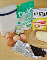 Ingrédients pour faire des coeurs fondants au chocolat