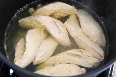 Green Chile and Chicken Mock Enchilada Casserole found on KalynsKitchen.com
