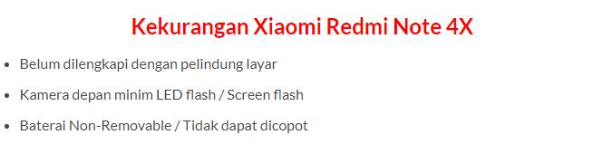 Harga dan Spesifikasi Xiaomi Redmi Note 4X Terbaru 2018