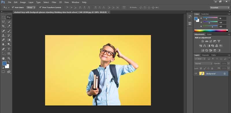 2 cara memasukkan gambar ke photoshop