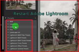 Restart lightroom to apply presets