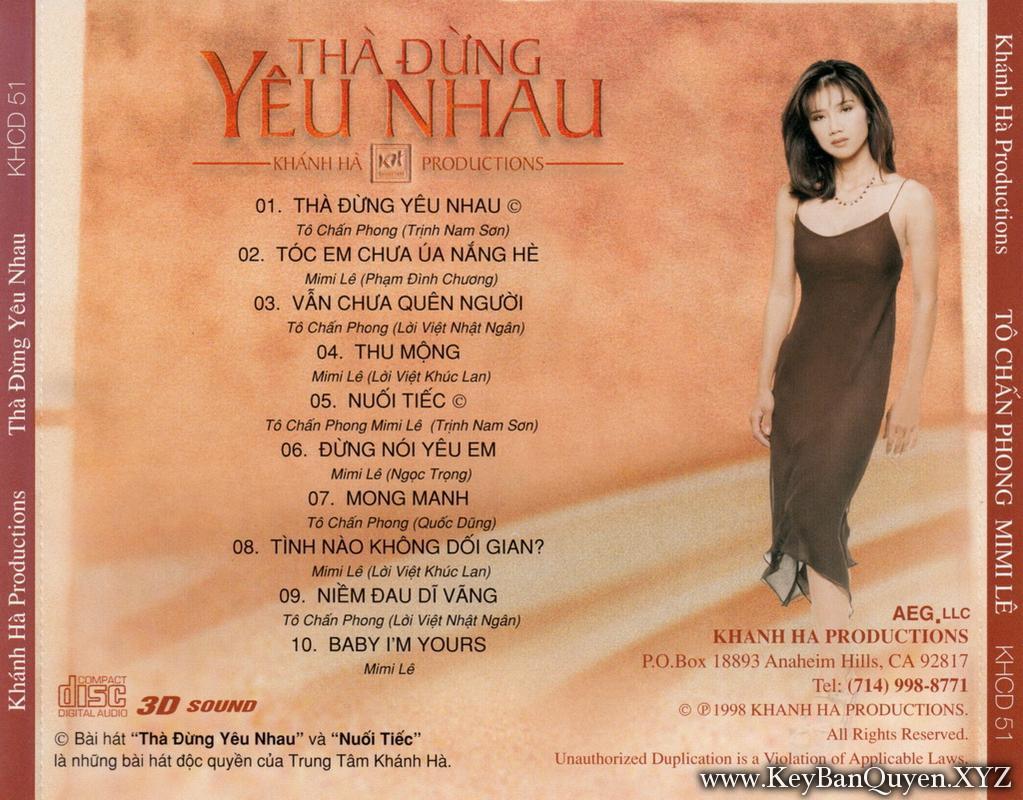 Tô Chấn Phong - Mimi Lê - Thà Đừng Yêu Nhau (1998) [WAV]